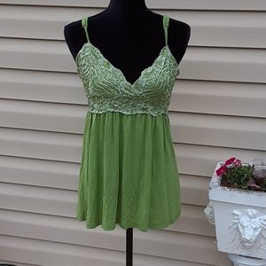Green sequined Body Central tank top